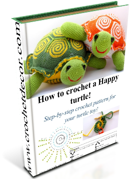 crochet turtle pattern, written pattern crochet turtle, crochet diagram turtle