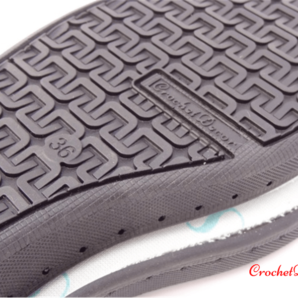 Black Rubber Soles for Crocheted Shoes