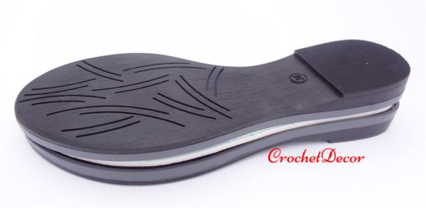 Masa Black Sole for Crocheted Shoes