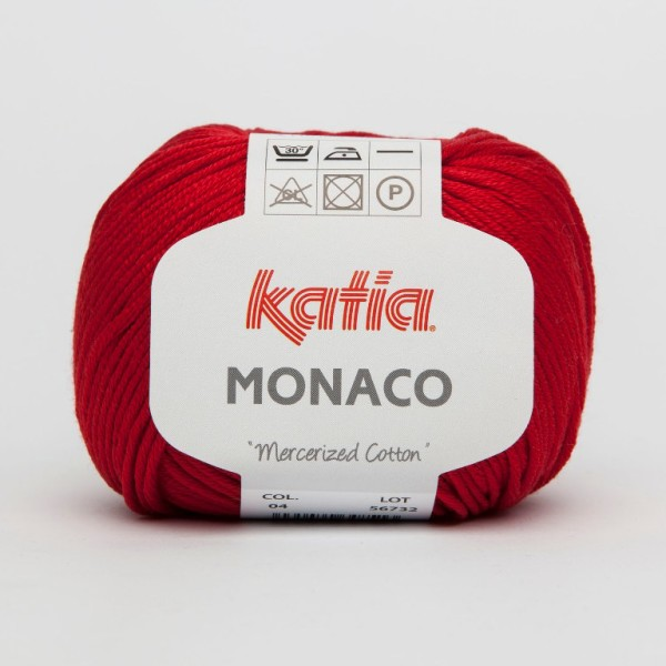 Dark Red Mercerized Cotton Yarn for Crocheted Shoes